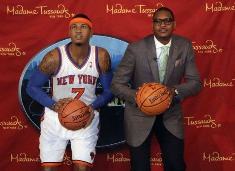 Carmelo Anthony Wax Figure