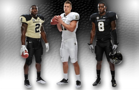 New Vanderbilt Football Uniforms