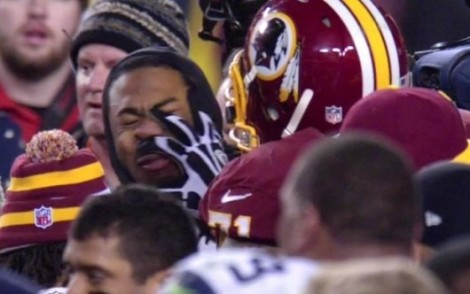 Richard Sherman Punched In Face