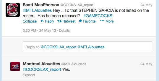 Montreal Alouettes, Twitter