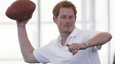 Prince Harry, Throwing A Football