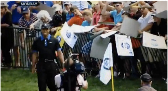 Tiger Woods, Fakes Out Fans