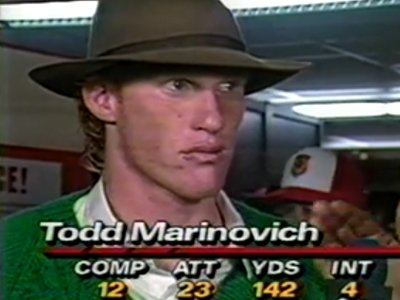 todd marinovich project Todd marinovich's plummet from can't-miss prospect to drug-addled fuck up is a tale most sports fans know intimately but this month's esquire reveals so much more about the quarterback&#39s disturbing life.