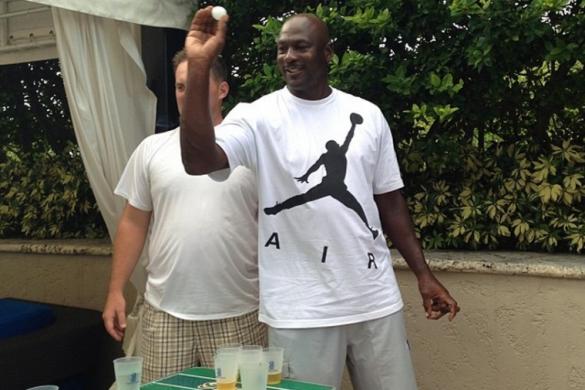 Michael Jordan, Beer Pong