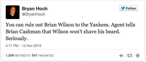 Brian Wilson, Beard